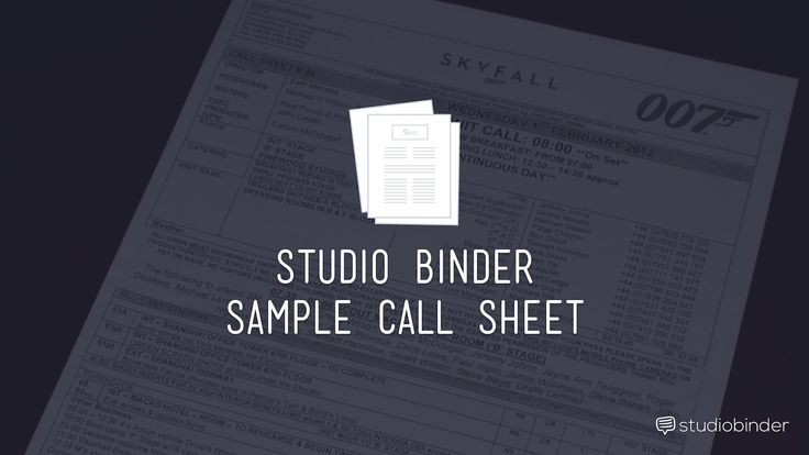 How to set up your Call Sheet Filmmaking Pinterest Pre - sample call sheet