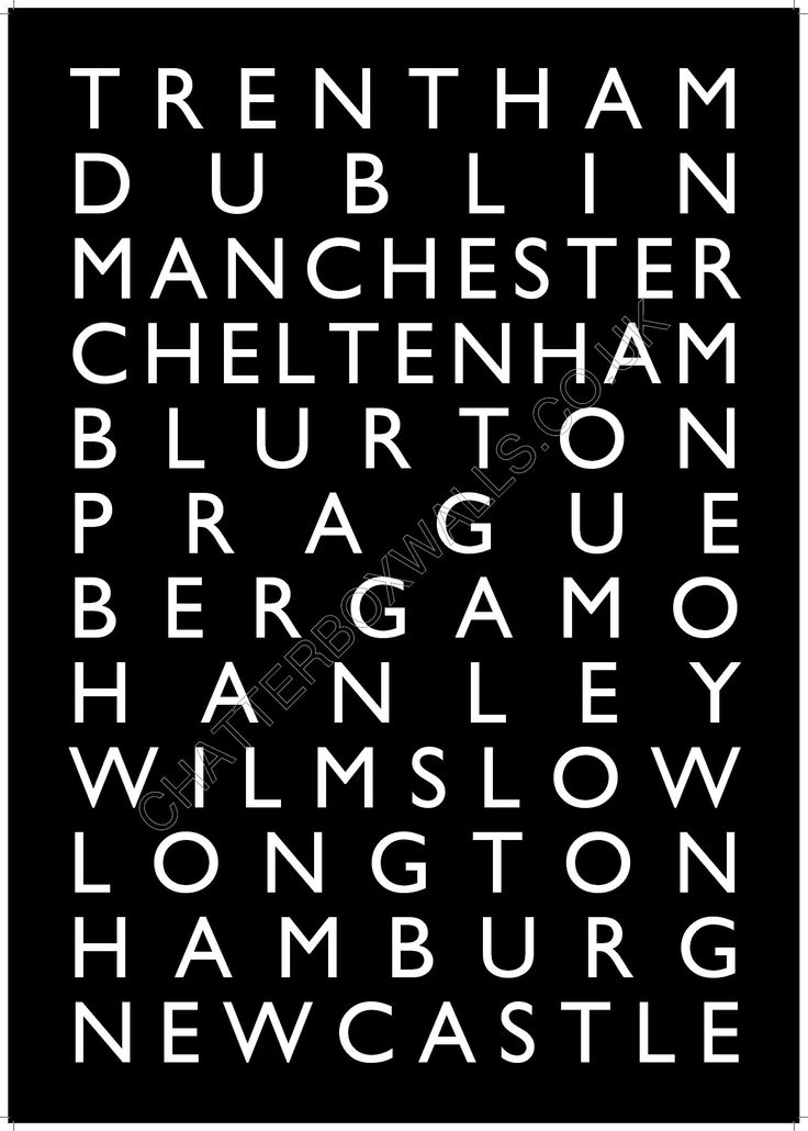 Here's a destination print with some of our special places. We'd love to know yours
