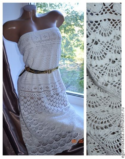 Платья ручной работы. Ярмарка Мастеров - ручная работа. Купить белое Платье без бретелек. Handmade. Белый, Платье нарядное