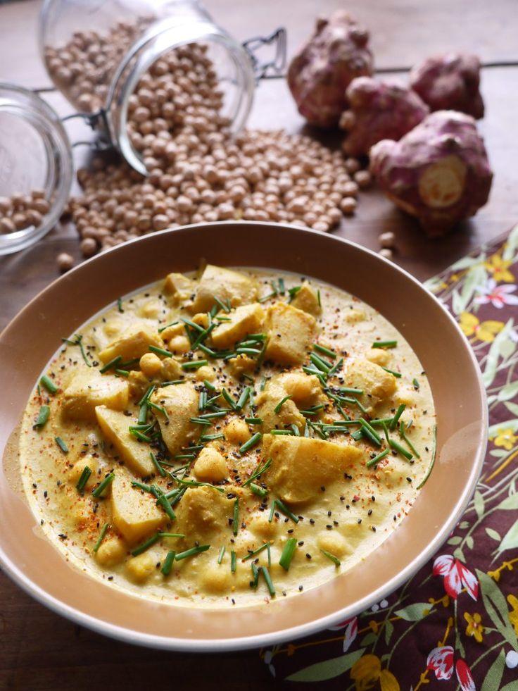 Curry de pois chiche aux topinambours