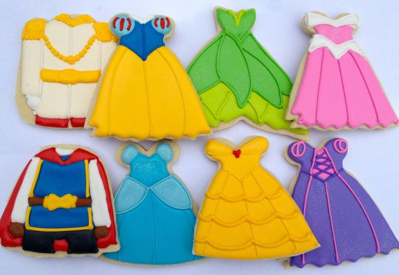 Disney Prince and Princess Cookies