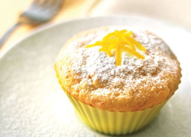 These muffins are refreshing and delicious, perfect topped with just a sprinkle of icing sugar and lemon zest.