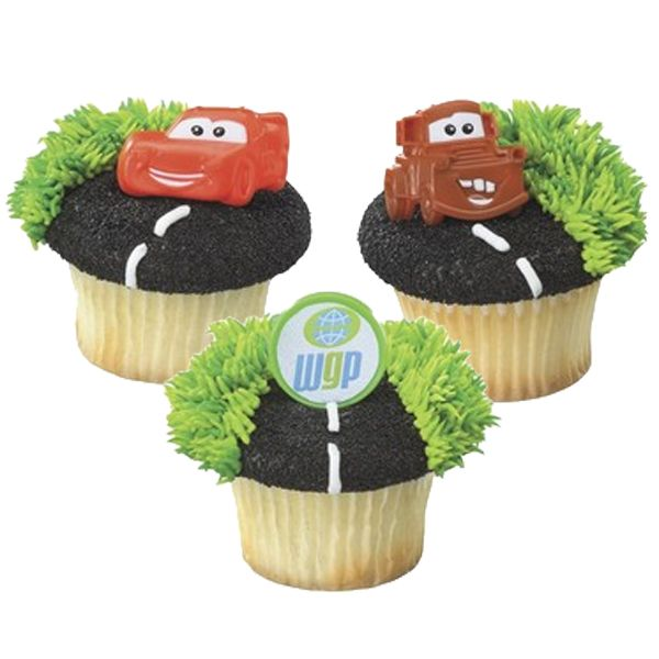 dust frosting with crushed gf oreos, pipe white frosting and top with toy car
