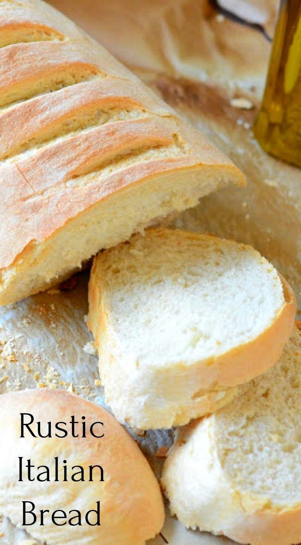 Rustic Italian Bread Recipe Rustic Italian Bread Italian Bread Bread Recipes Homemade