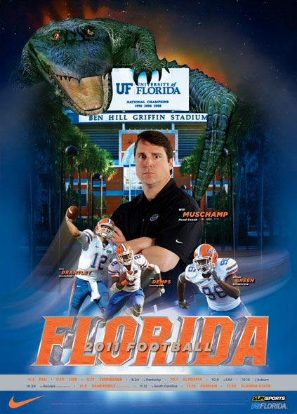 Cover of Florida's media guide. What, no jean shorts? #kidding