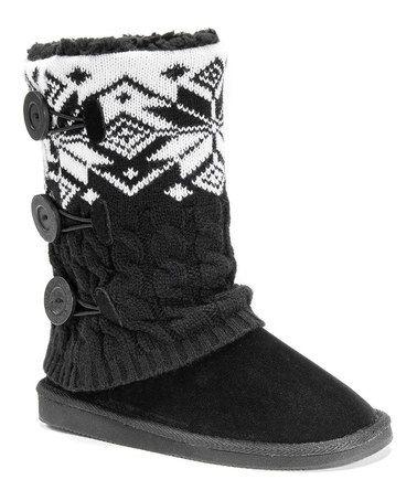 Love this Black Cheryl Boots - Women by MUK LUKS on #zulily! #zulilyfinds