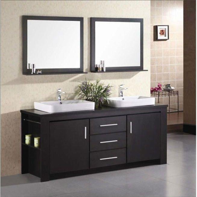 Moveable Solid Wood Ceramic Buffet Kitchen Sink Cabinet: Best 25+ Vessel Sink Vanity Ideas On Pinterest