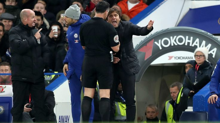 Chelsea boss Antonio Conte charged with misconduct after sending off #News #AntonioConte #Chelsea #Football #PremierLeague