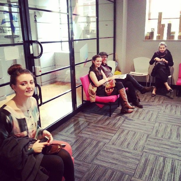 @melbfringes photo: They just keep coming! Artists in the #melbfringe foyer on final registration day.