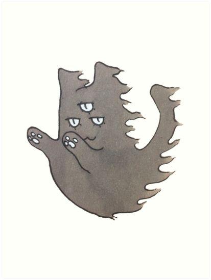 """Ghost Cat"" Art Prints by ThreeEyedKat | Redbubble"