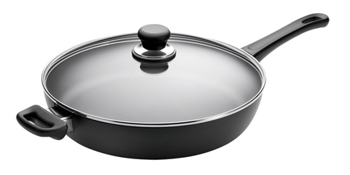 Scanpan is my favorite brand of non-stick cookware.  It is heavy and cleans super easily.