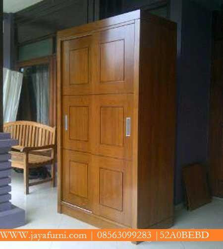 jual lemari pakaian jati minimalis Sliding Lemari Pakaian Jati Kode : ALP-018 Harga: Rp 4.200.000,- harga satuan produk Bahan baku : kayu jati