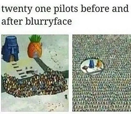 twenty one pilots, twenty Øne piløts, and spongebob image