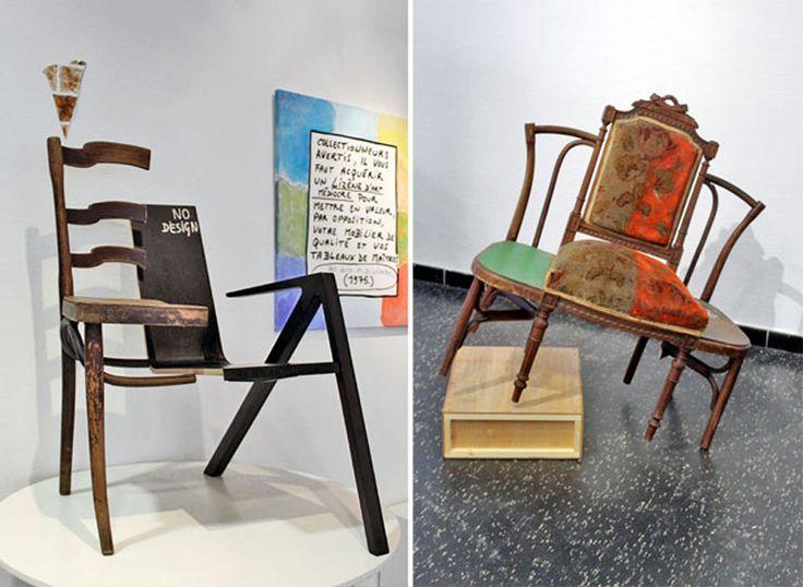 Art syncrétique, chaises découpées