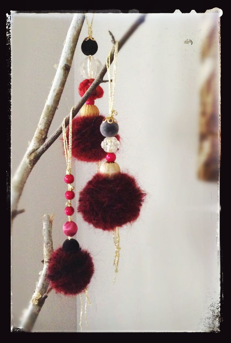 gorgeous mohair pom poms.....dancing ballerinas for a Christmas tree.....