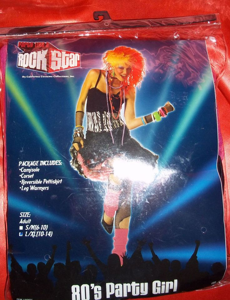 80s PARTY GIRL Halloween Costume Adult Large Size 10-14!!!! #CaliforniaCostumeCollections #CompleteCostume