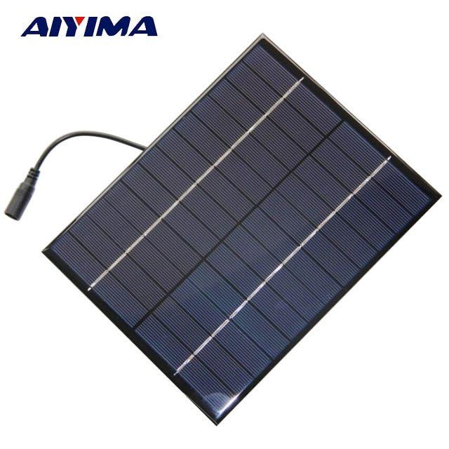 Aiyima 5w 12v Solar Panel Polycrystalline 210 165 Solar Cell Battery Module Polycrystalline Diy Solar Power Solar Panels Solar Energy Panels Best Solar Panels