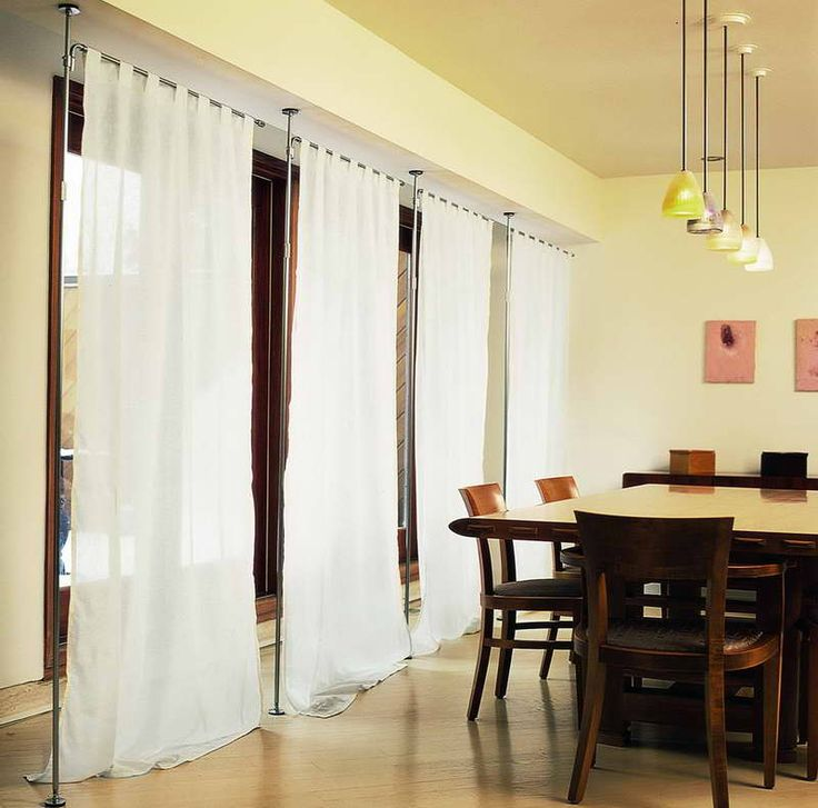 Decor mesmerizing curtain room dividers for home - Room divider curtain ideas ...