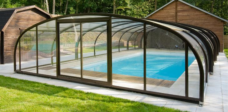 18 best Abris de piscine images on Pinterest Pool enclosures - prix veranda piscine couverte