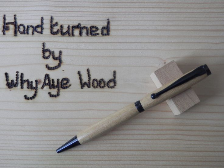Hand Turned False Acacia wood pen by Whyayewood on Etsy