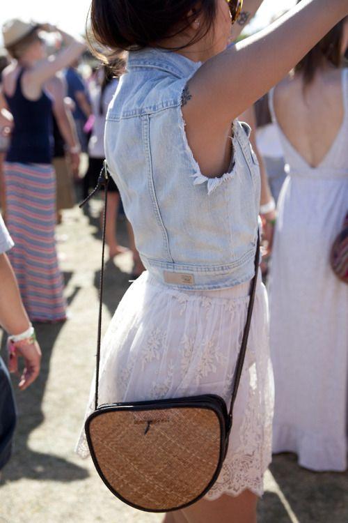 : Fashion, Denim Vests, Style, Spring Summer, Outfit, Jean Vest, Festival