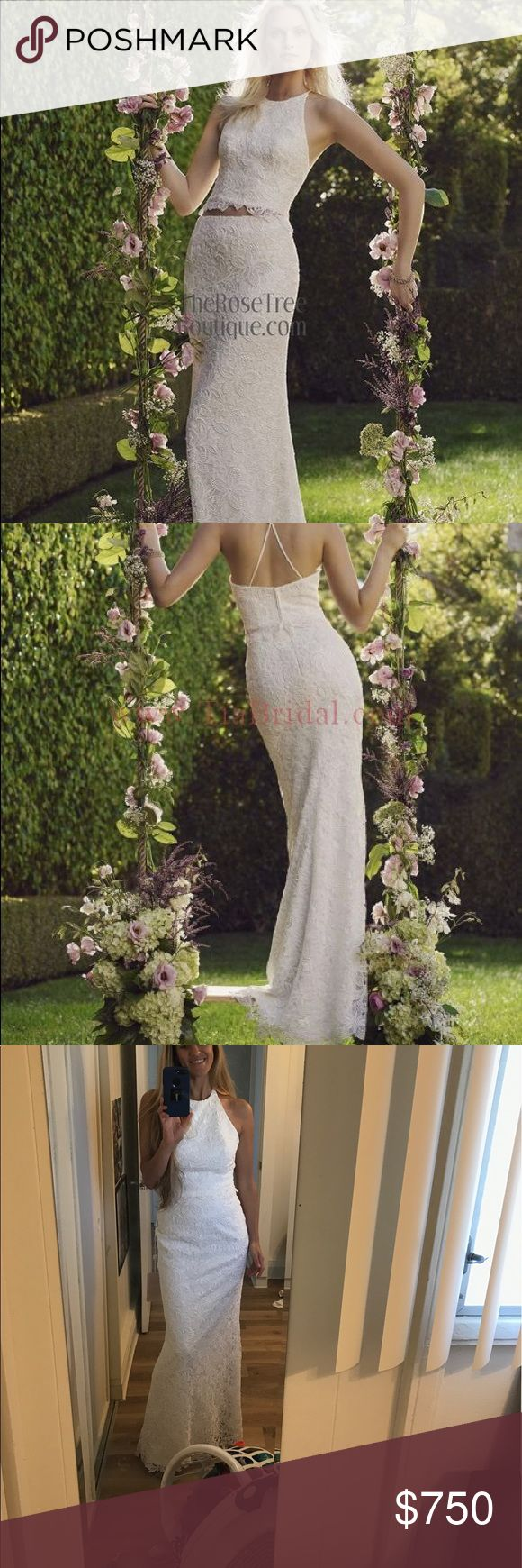 casablanca dress wedding dress garment bag Casablanca two piece wedding dress New with tags This is aGORGEOUS two piece wedding dress
