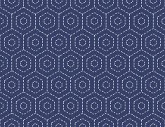 Décoration japonaise traditionnelle avec une broderie hexagons.  Illustration de motif sans couture. vector art illustration                                                                                                                                                                                 Plus