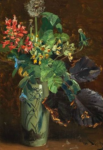 Christian Skredsvig Flowers in a Vase Late 19th - early 20th century