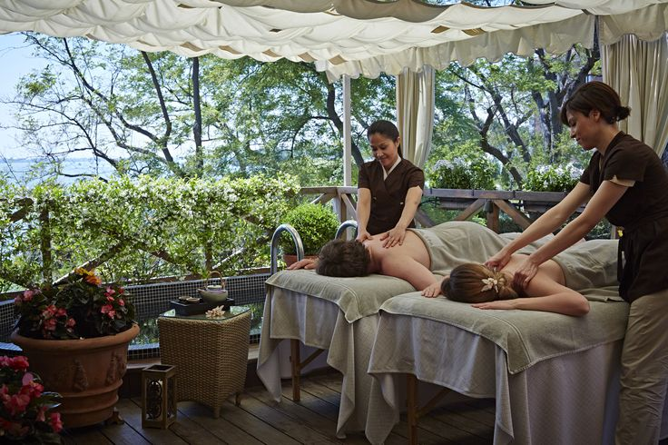 Romantic couple massage on the Palladio Suite Terrace