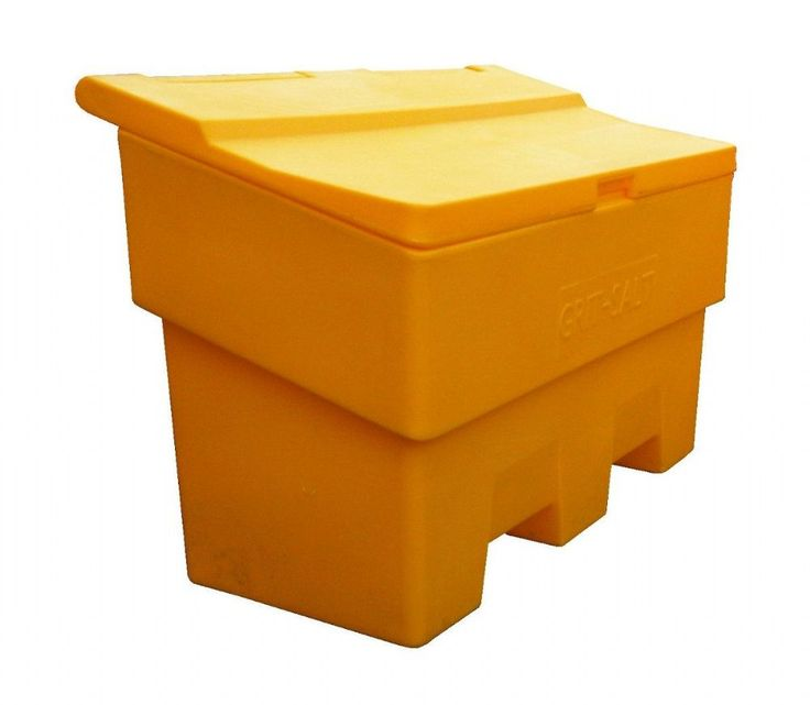This 10 Cu Ft 285 Litre Grit Salt Bin Is Manufactured From Durable UV  Resistant Polyethylene