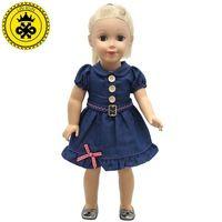 American Girl Куклы Подходит Для 18 дюйм(ов) Ковбой Denim юбка Платье На День Рождения для детей Новый Стиль Горячий Продавать MG-210