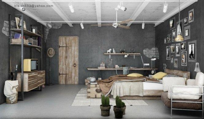 industrial vintage interior
