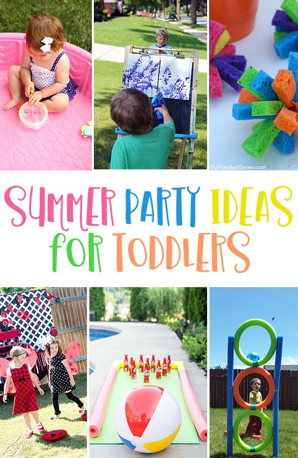 Summer Party Games For Toddlers Birthday Party Games For Kids