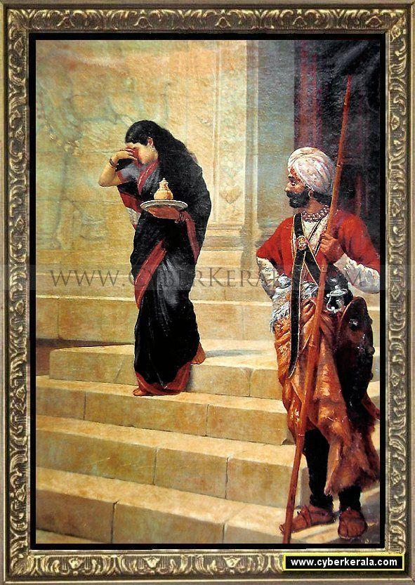 painting on canvas by raja ravi varma dated 1891 bombay arts society