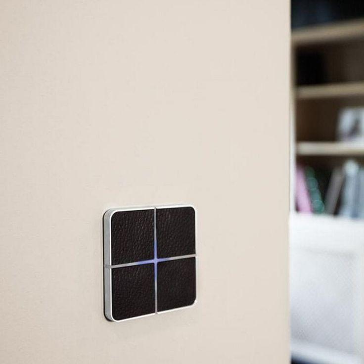 Interrupteur pour installation domotique / pour store / pour volet / tactile ENZO basalte