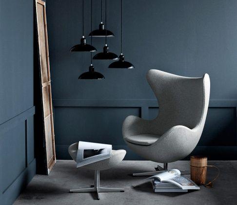 """Der """"Egg Chair"""", den der dänische Designer Arne Jacobsen 1958 entwarf."""