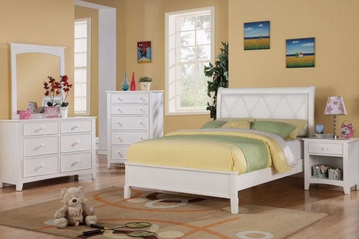 Full Panel Bed In White : Comfortla.com, Interior Design and Furnishings