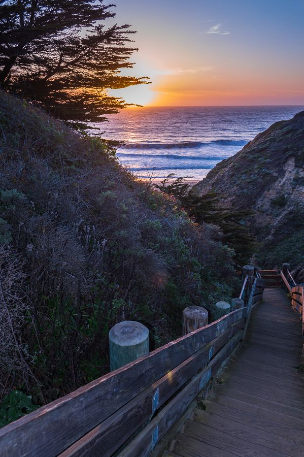 half moon bay sunset...california