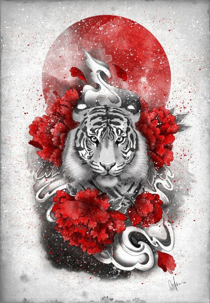 картинки тигры с сердечками прическу высмеивают