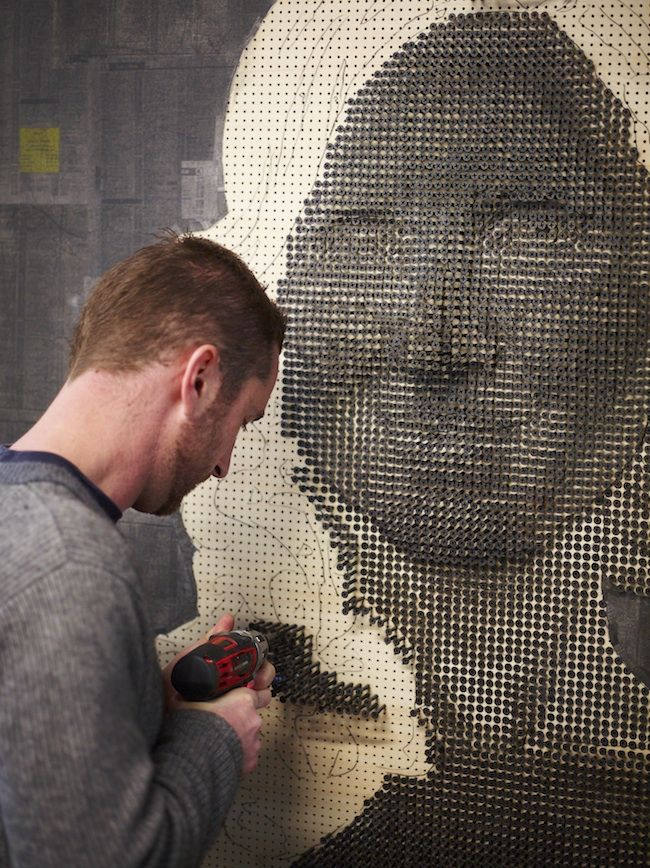 these are so cool, check out the site for the rest of the images. Artist, Andrew Myers. 3D portraits made from screws.