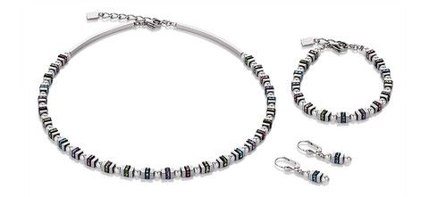 Geo Cube pearl mini multicolour necklace, bracelet and earrings 4786_1522