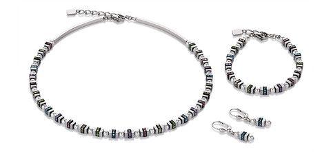 Geo Cube pearl mini multicolour necklace, bracelet and earrings 4786_1522