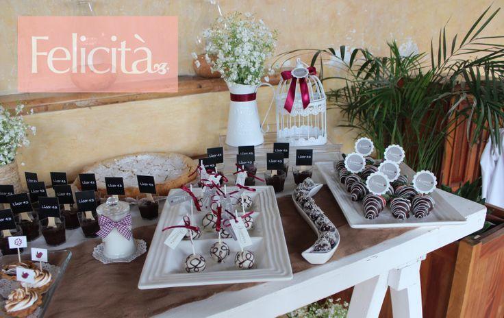 Mesa de dulces bautizo #Felicità