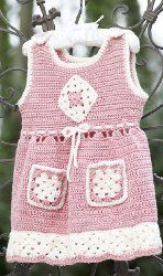 Crochet an adorable outfit for your little girl. This is great for her to wear on special occasions. Use a free crochet pattern like this one and you'll be glad you did.