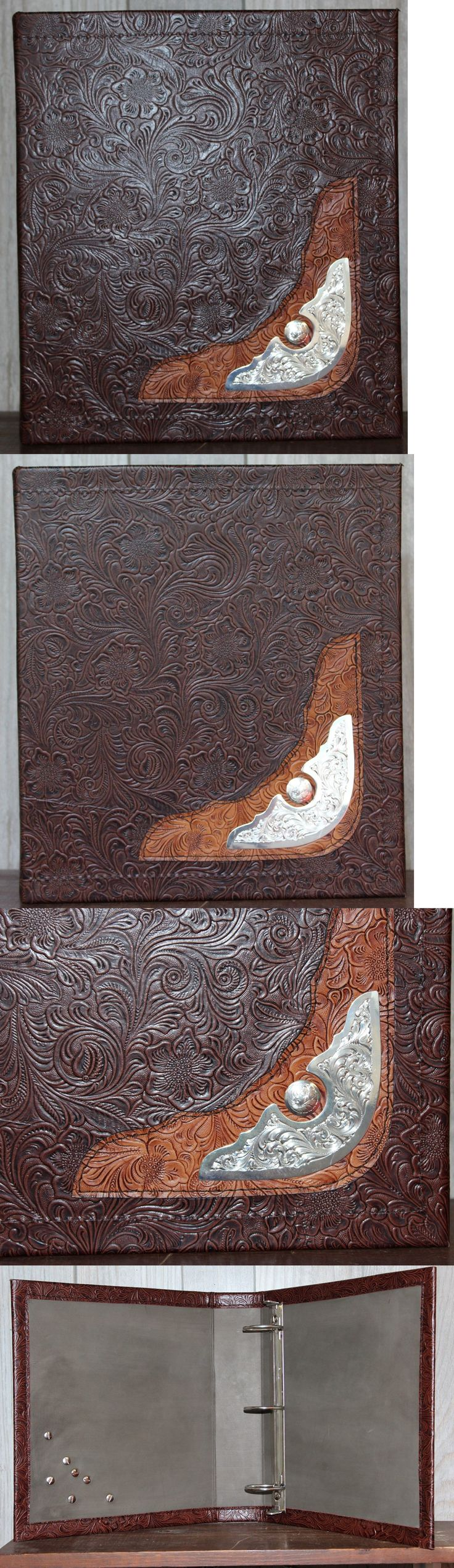 Conchos 159019: Montana Silver Saddle Trim Western Floral Cowhide Leather 2 3 Ring Binder -> BUY IT NOW ONLY: $79.95 on eBay!