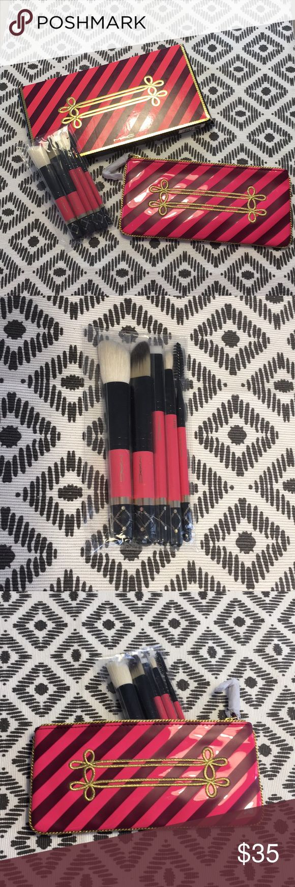 MAC Makeup brush set - New in box! These fundamental brushes are all you need to create your everyday look. Basics for anyone's makeup bag. MAC Cosmetics Makeup Brushes & Tools
