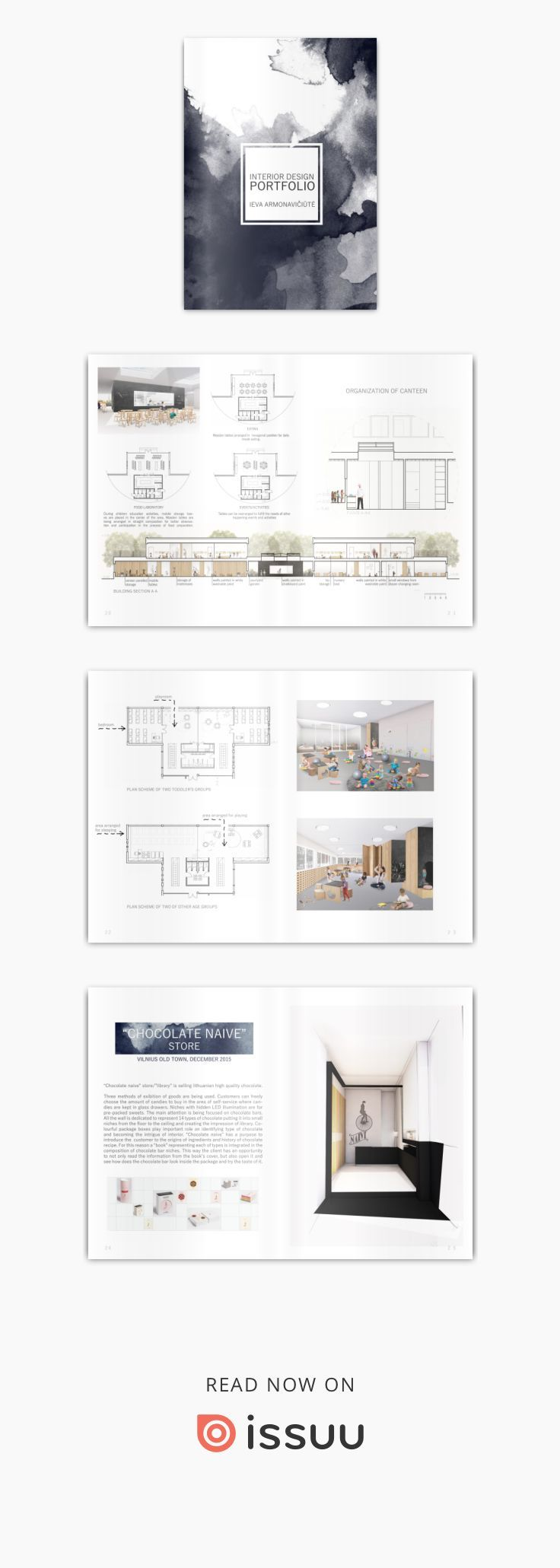 Interior design portfolio by Ieva Armonavičiūtė   Progettazione ...