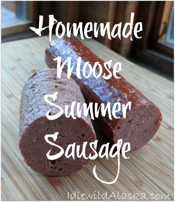Looking for more ways to use your hunting harvest? Check out this tasty homemade moose summer sausage! Works will all venison!