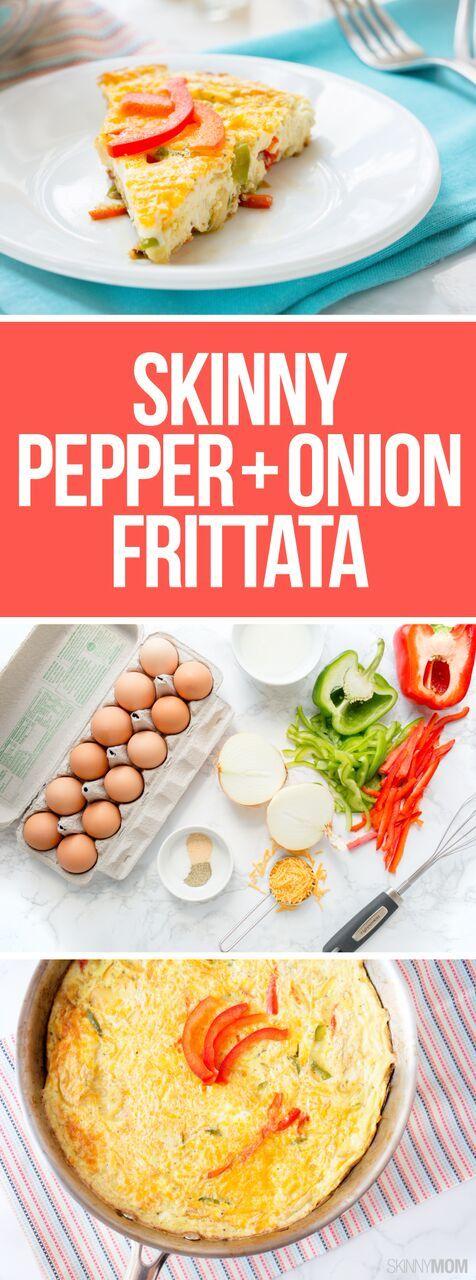 Recipe: Skinny Pepper and Onion Frittata | Onions, Morning breakfast ...