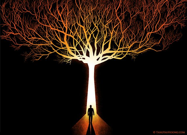 The Tree of Light by TangYauHoong, via Flickr